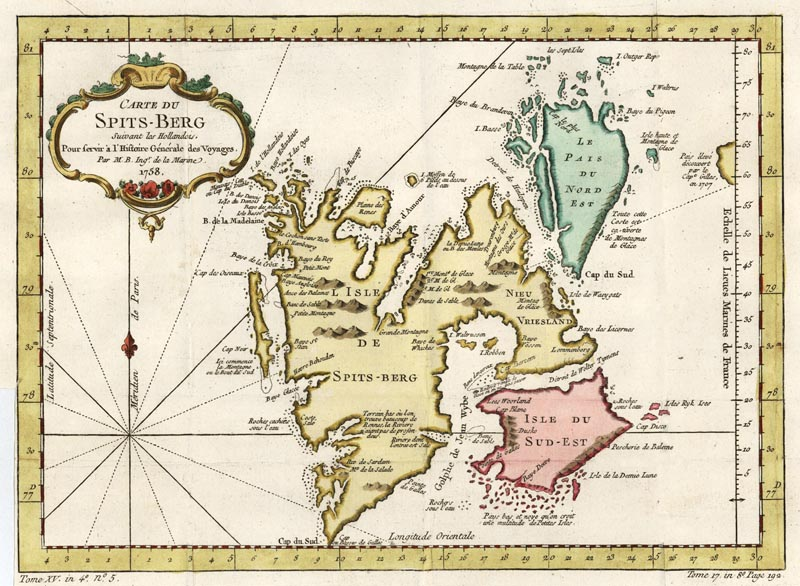 Seekarte Spitzbergen